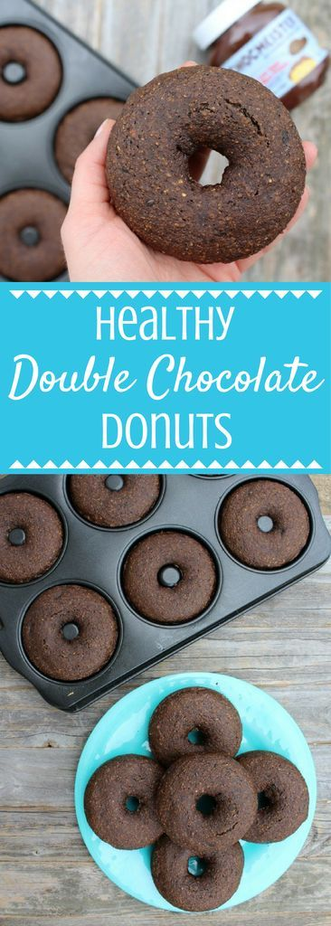 Healthy Double Chocolate Donuts that are so rich and delicious you'll have a hard time believing they're healthy + vegan!