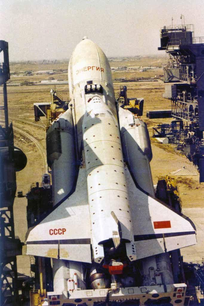 """The Russian Space Shuttle """"Buran""""."""