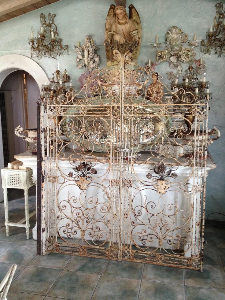 Best images about antique iron gates on pinterest