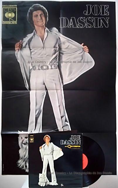 Blue Country - La Discographie de Joe Dassin: 1974 - CBS 88027 - Joe Dassin à l'Olympia - Poster...