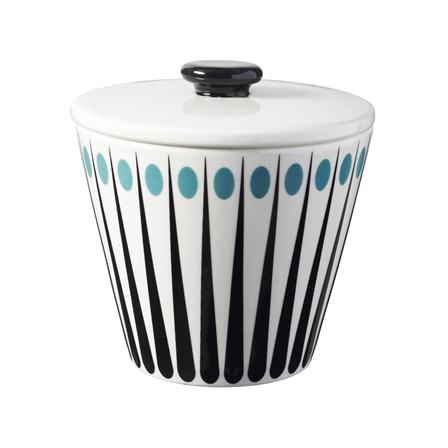 Superliving Amanda Sugar Bowl, White/Aqua