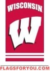 "Wisconsin Badgers Applique Banner Flag 44"" x 28"""