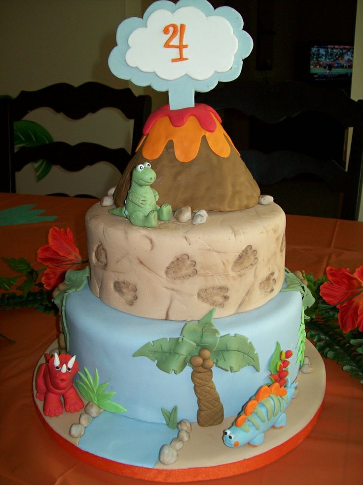 I'm trying to figure out birthday cakes to make for my boys. I'm thinking a dinosaur cake for Peter (in January) and a train cake for Jonathan (in February).