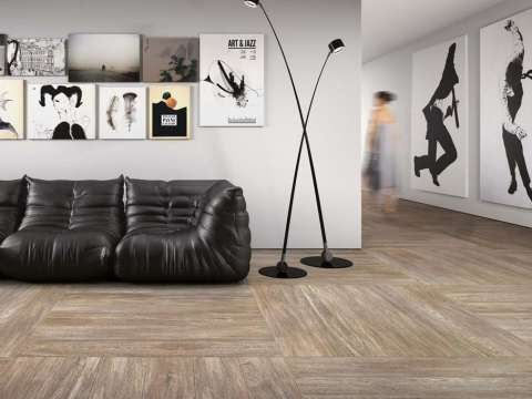 Oak Wood Effect Floor Tiles