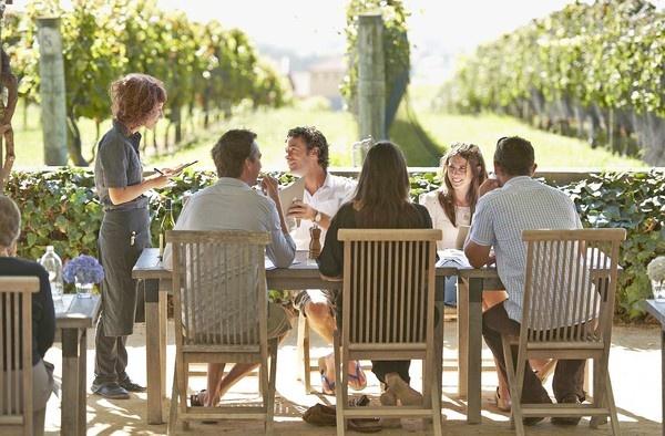 New Zealand --A break for lunch at Black Barn Vineyards near Napier