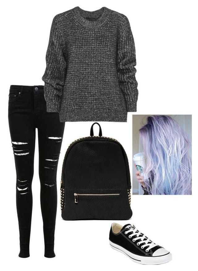 Untitled #73 by weird-fangirl on Polyvore featuring polyvore, fashion, style, Belstaff, Miss Selfridge, Converse and Deux Lux