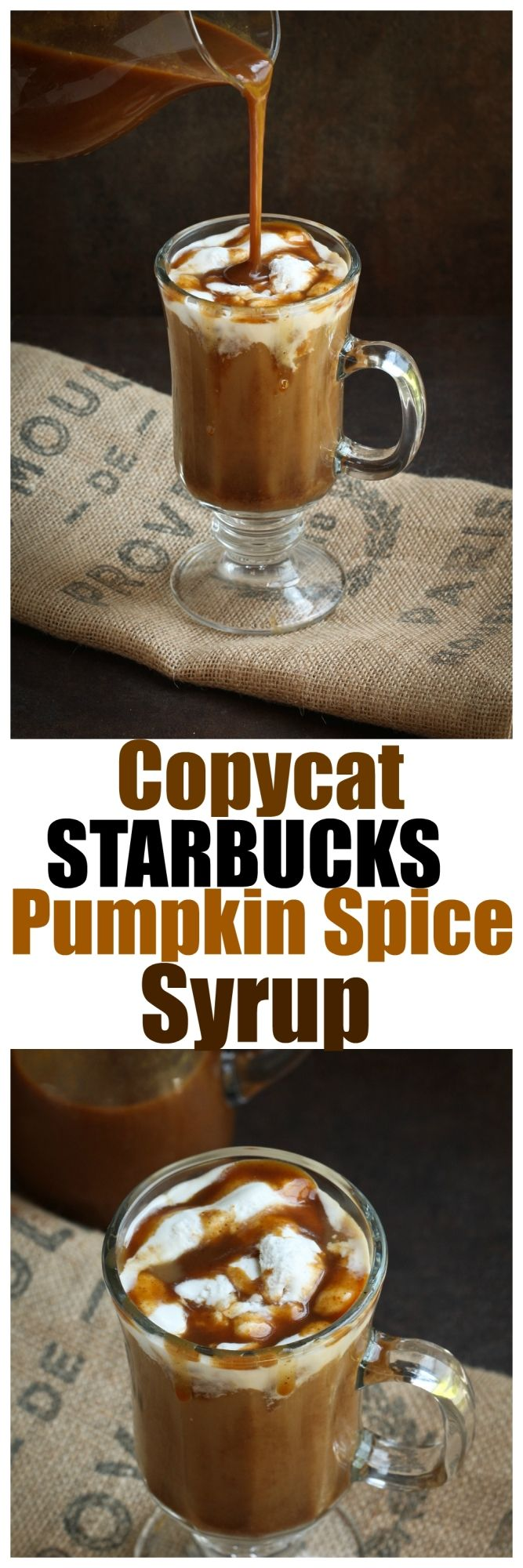 Make homemade lattes, smoothies or desserts with this easy Copycat Starbucks Pumpkin Spice Sauce!