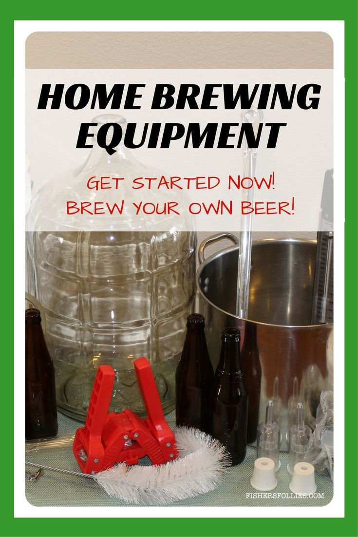 Here's the home brewing equipment you'll need to get started in making your home brew.  Get started now . . . just a few short weeks until you can savor your brew!