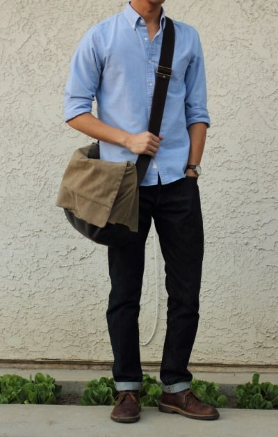 everyday uniform, good fit  jcrew shirt  gap selvage  clarks