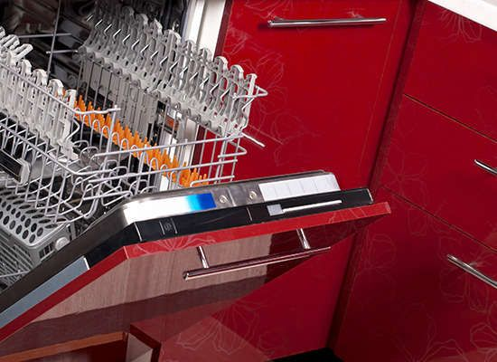 Opt for a Quiet Dishwasher Before buying appliances and outdoor power equipment, check out the sound rating—measured in decibels, or dB for short. A quiet dishwasher might have a rating of 45 dB, while a dishwasher with a dB rating of 55 would be about twice as loud.