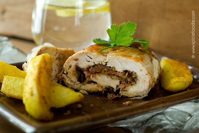 Chicken Breast Stuffed with Pancetta, Onions and Nuts Recipe by ...