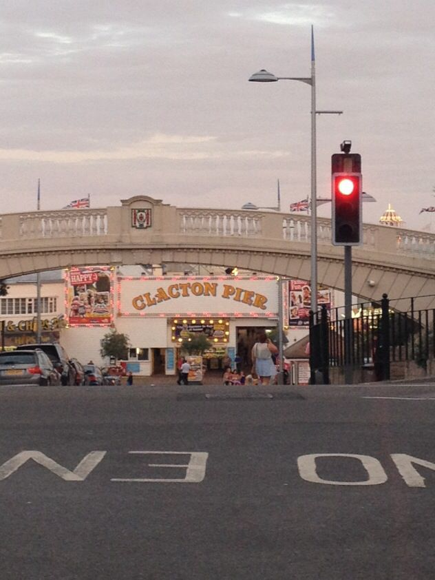 Entrance to the pier, Clacton-on-Sea, Essex, England