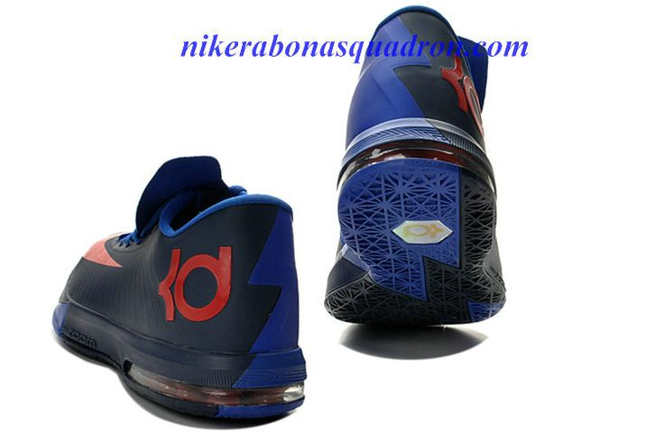 College Navy Cheap Nike KD VI 6 Shoes For Sale Royal Blue Red 599424 800