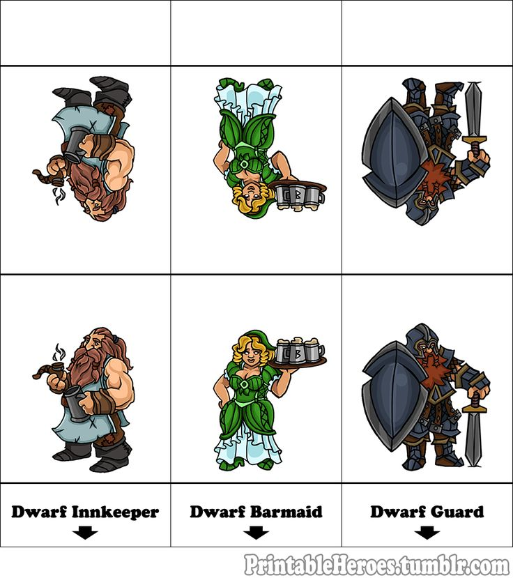 Here's the printable tavern set, dwarven Innkeeper, barmaid, and generic guard.