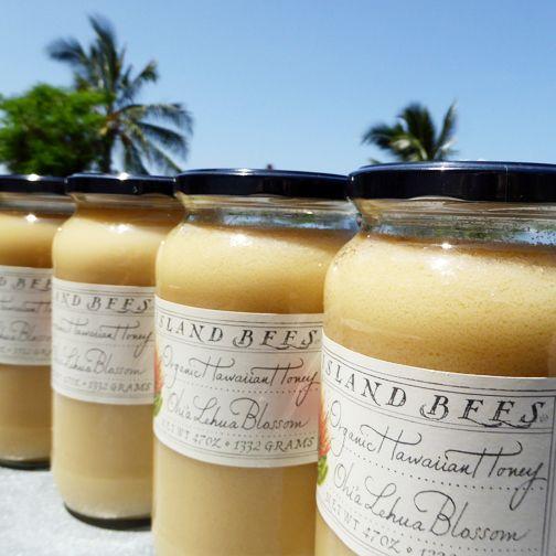 Organic Ohia Lehua honey from the Big Island of Hawaii.