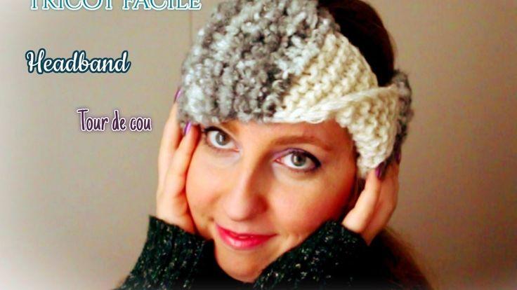 Tricot: bandeau de tête, tutoriel/ Knit Headband easy