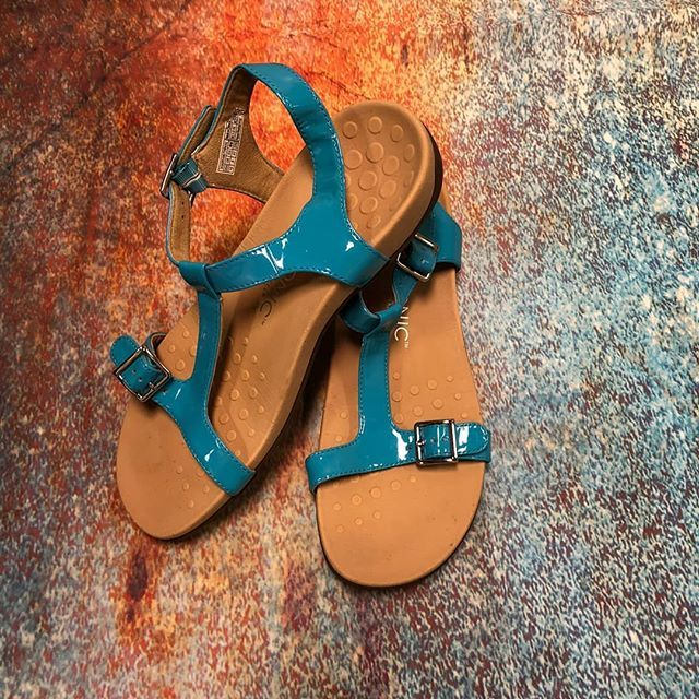 Spring means it's sandal season!  Vionic aqua sandals size 10 $16 .  .  Shop with us thru Sunday March 11 and play Beach Party BINGO!  As you as you get BINGO you can save $25 off a purchase of $50!  .  .  Gotta have it? Stop in!! Location: 785 W Sproul Road  We do phone orders!! Call: 610-455-1500 Hours: Sat: 10-8 Sun: 12-6  Free Delivery to West Chester and East Norriton Clothes Mentor stores We Ship to Your Home!  #smallbiz #shopsmall
