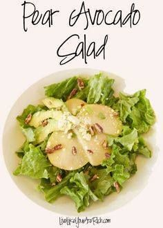 Pear Avocado Salad. Pear Avocado Salad. #LiveLikeYouAreRich...  Pear Avocado Salad. Pear Avocado Salad. #LiveLikeYouAreRich Recipe : http://www.itubeudecide.com/ And @ItsNutella  https://www.pinterest.co.uk/ItsNutella