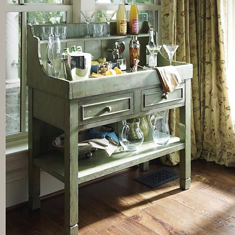 Green dry sink bassett furniture dry sink pinterest for Home dry bar furniture