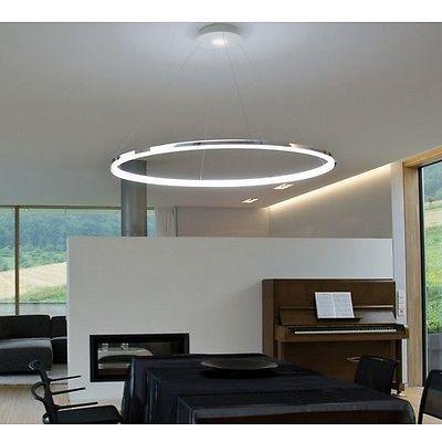Moderne Hängelampe Leuchte Lüster Kronleuchter LED Ring Deckenleuchte Aus EU
