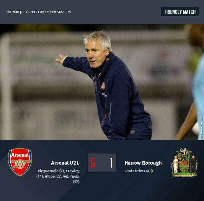 Arsenal XI vs Harrow Borough -
