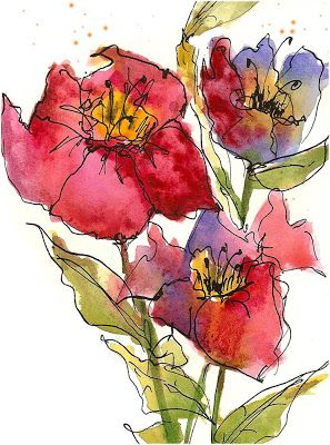 I have decided that I just love to do watercolors that are more expressive and not quite as tight. It is actually fairly hard to k...