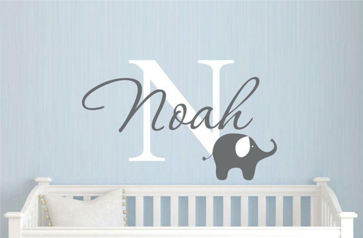 Name Des Kindes An Der Wand Wandtattoo Junge Baby Idee