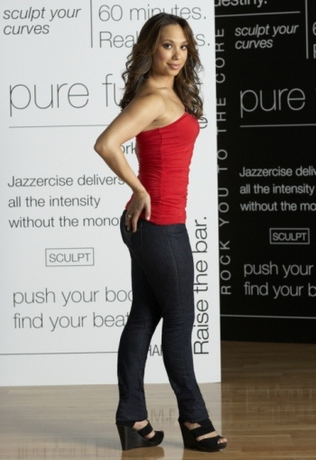 Cheryl Burke, two time champion, Dancing With The Stars and Jazzercise spokeswoman.  www.jazzercise.com 800.FIT.IS.IT