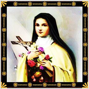 Santa Terezinha - Quadrinhos confeccionados em Azulejo no tamanho 15x15 cm.Tem um ganchinho no verso para fixar na parede. Inspirados em santos católicos. Para entrar em contato conosco, acesse: www.babadocerto.com.br