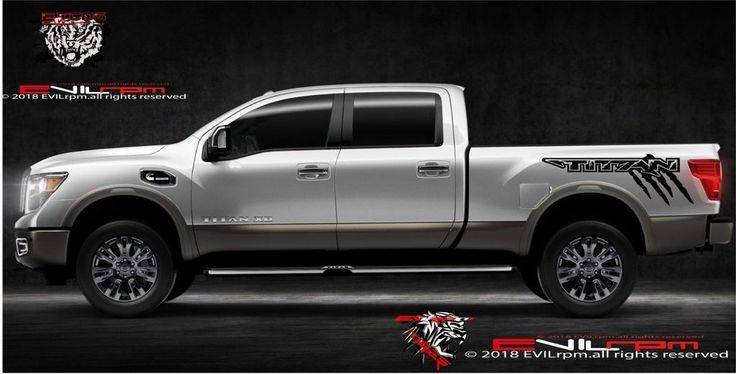 Side Decal Bed Sticker Vinyl Truck Graphics Kit For Nissan