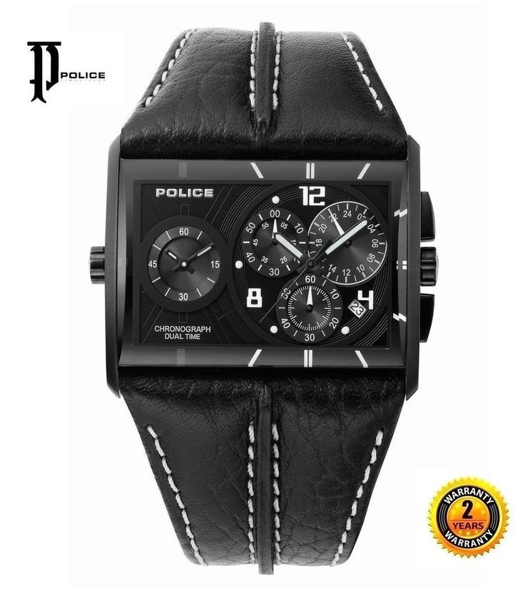 """??""""? ? Buy with confidence ? Original Items ? Return Accepted ? Worldwide Shipping ? Brand New Beautiful Men's Chronograph Dual Time Watch from The Italian Designer POLICE with Black Leather Strap and Black Dial Free Shipping Worldwide . Police is a watch brand born in 1980 in Venice, Italy. It began as a collection of trendy and modern watches. The current range represents a height in fashion and stylish appearance. Police watches are known for their colourful and outwardly appearance. As…"""