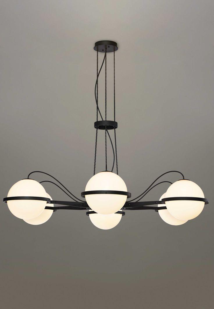 Minimalist QUAY 3520 Suspension Light Pendant Light Deep black oxide Modern - Style Of 2 light pendant fixture Elegant