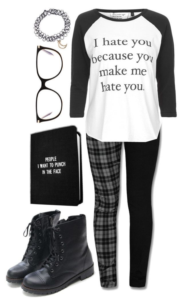 """The Antisocial Emo"" by spnlex ❤ liked on Polyvore featuring Hai, Topshop and Victoria Beckham"