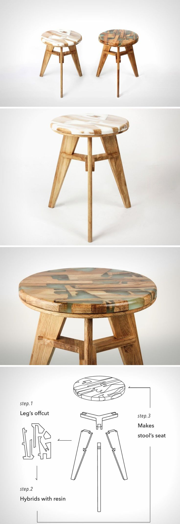 What the designers have done with the Zero Per Stool is just ingenious. This stool uses its own waste to build itself! That too in a way that gives it such an incredible character… one that is unique to each stool.