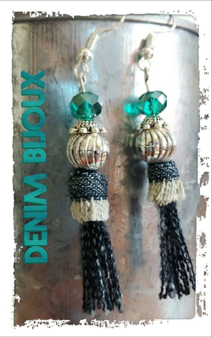 Boucles d'oreilles, Denim&perles Modèle unique, fait main. 5€ www.denimbijoux.com