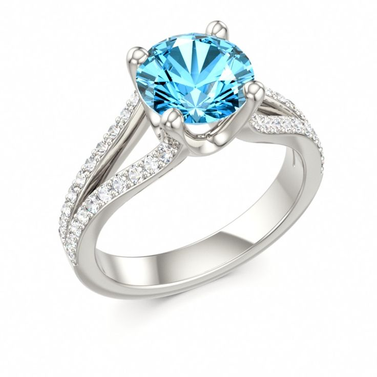 blue topaz ring madonna colors of eden engagement - Colored Wedding Rings