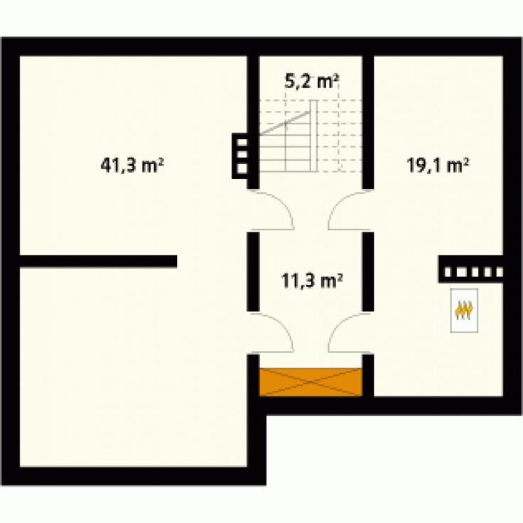 Wygodny dom dla 4 - 5-osobowej rodziny. Zlokalizowana na parterze część dzienna mieści przestronny pokój dzienny z jadalnią, kuchnię, spiżarnię, gabinet, wc. Na poddaszu znajdują się trzy sypialnie, łazienka i garderoba. Dom posiada piwnicę, w której mieści się kotłownia oraz pomieszczenia gospodarcze. Prosta bryła z dwuspadowym dachem czyni dom łatwym w realizacji i tanim w użytkowaniu.
