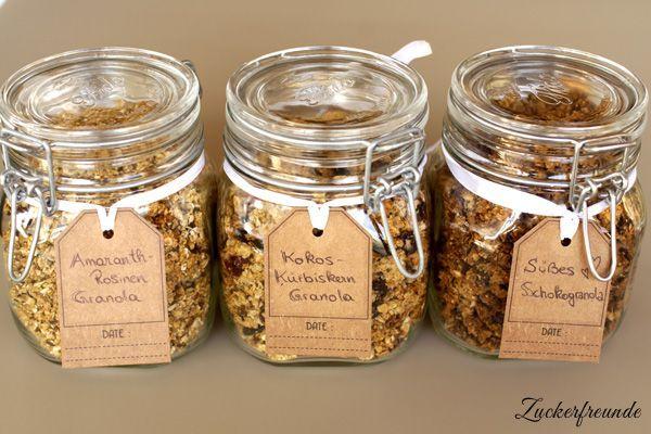 Crunchy Granola - Knuspriges Granola selber machen in 3 Rezeptvarianten