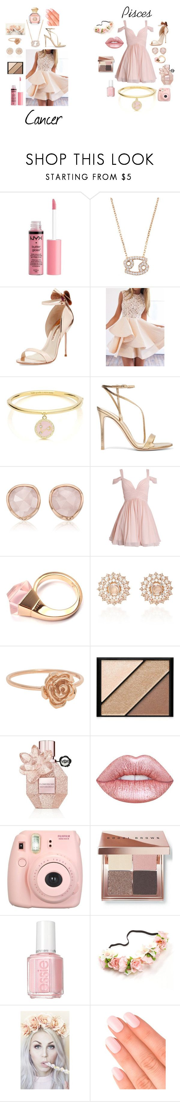 """Pisces and Cancer Prom"" by starry-eyed0310 ❤ liked on Polyvore featuring Charlotte Russe, Latelita, Sophia Webster, Kate Spade, Gianvito Rossi, Monica Vinader, Gucci, Nam Cho, Elizabeth Arden and Viktor & Rolf"