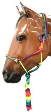 Check out the deal on Rainbow Cowboy Knot Halter With Lead at Chicks Discount Saddlery
