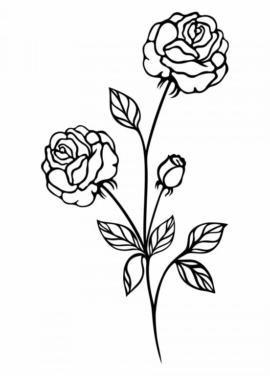 40+ Cross And Flowers Clipart Black And White