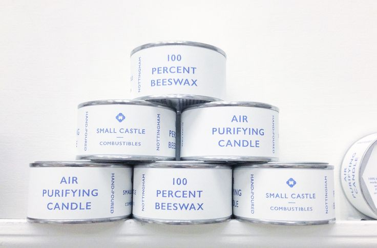 Small Castle Combustibles will be making a limited return again this winter. Air purifying candles made from the same pure English beeswax that the edges of our leather goods are burnished with.   A new slant on last years packaging, retains its portability