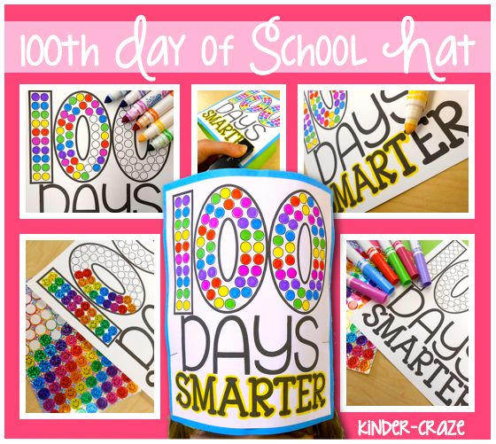 A Hat for the 100th Day - Kinder Craze: A Kindergarten Teaching Blog