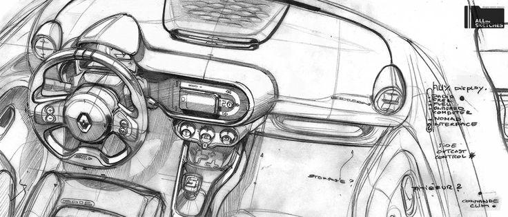 Renault interior sketch.