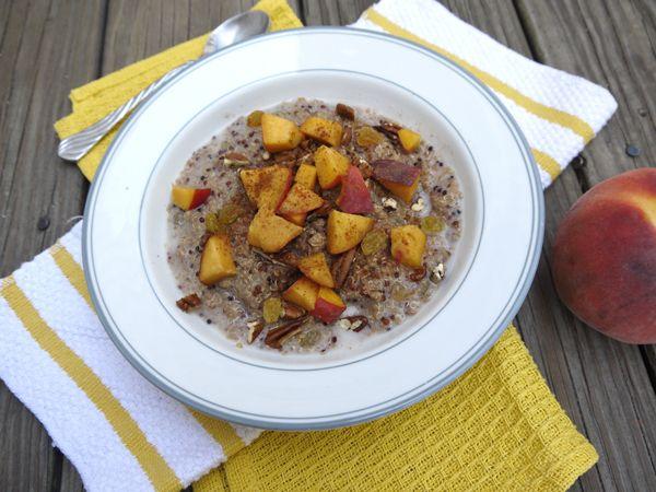 Cinnamon Peach Breakfast Quinoa