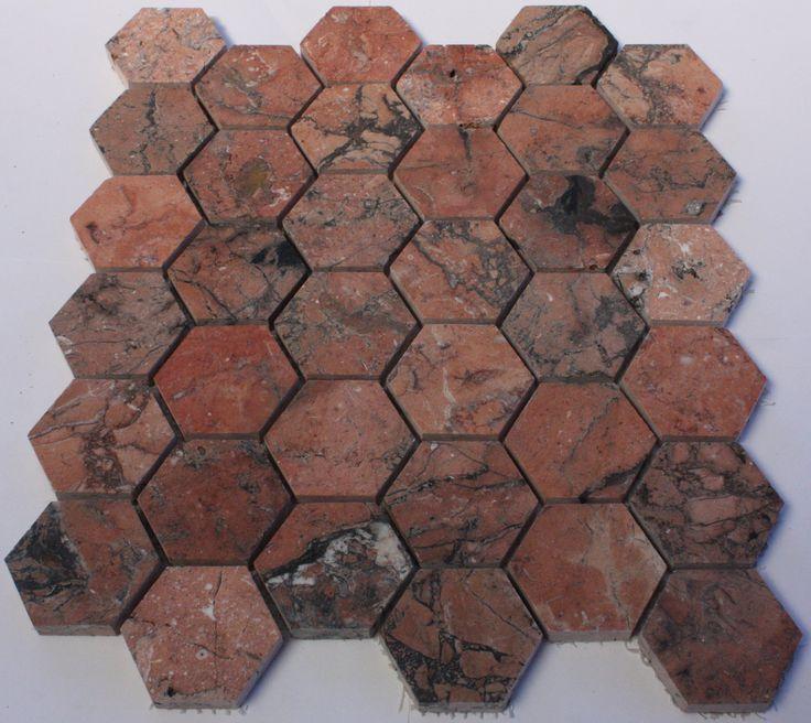 Mega Red Hexagon Mosaic