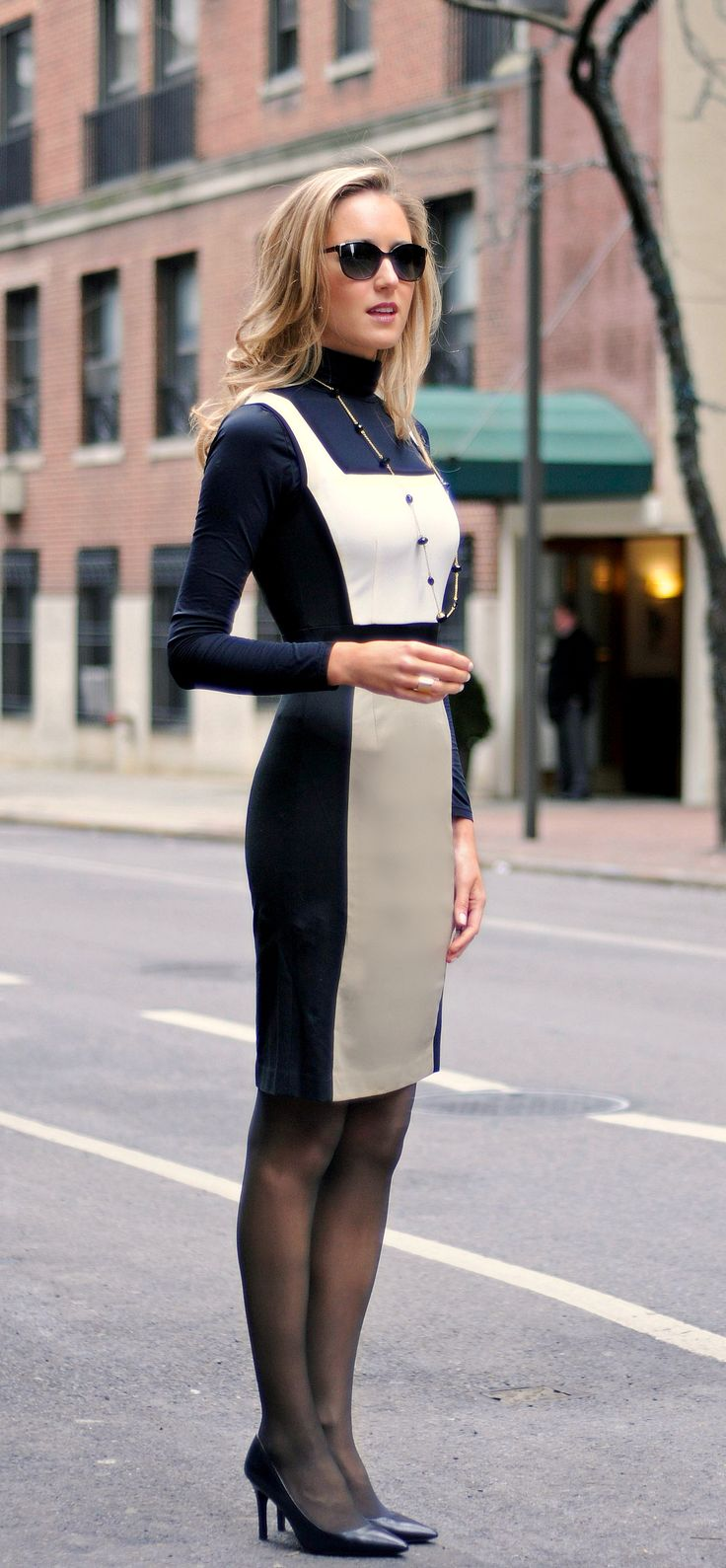 The Classy Cubicle: Colorblock Dress with Banana Republic #hellosloan