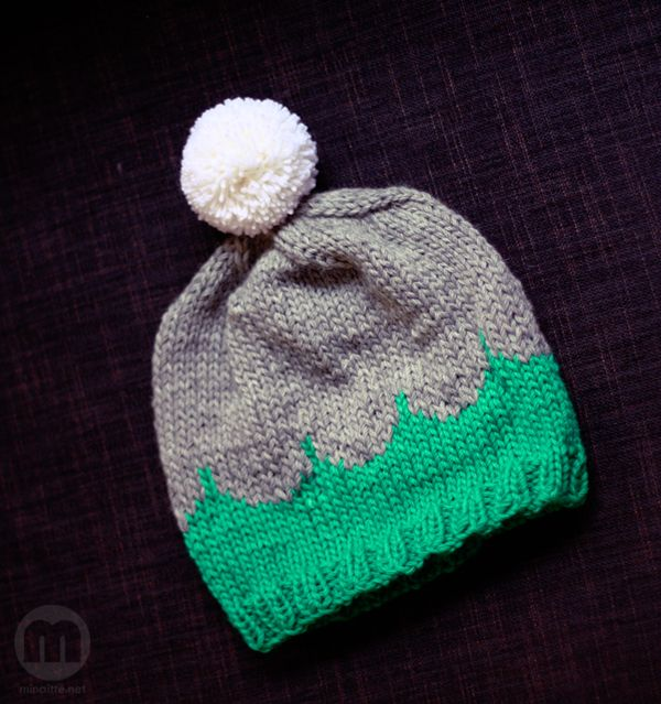 Knitted hat by minaitte.net