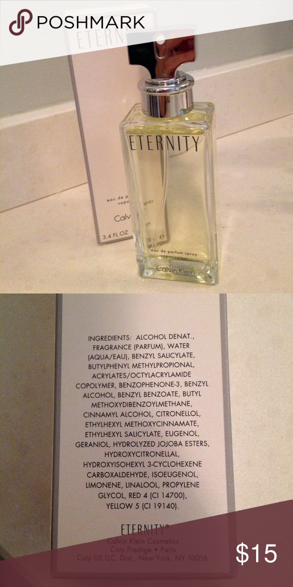 Calvin Klein Eternity perfume Calvin Klein Eternity perfume. 3.4 oz/100 ml bottle. Calvin Klein Makeup