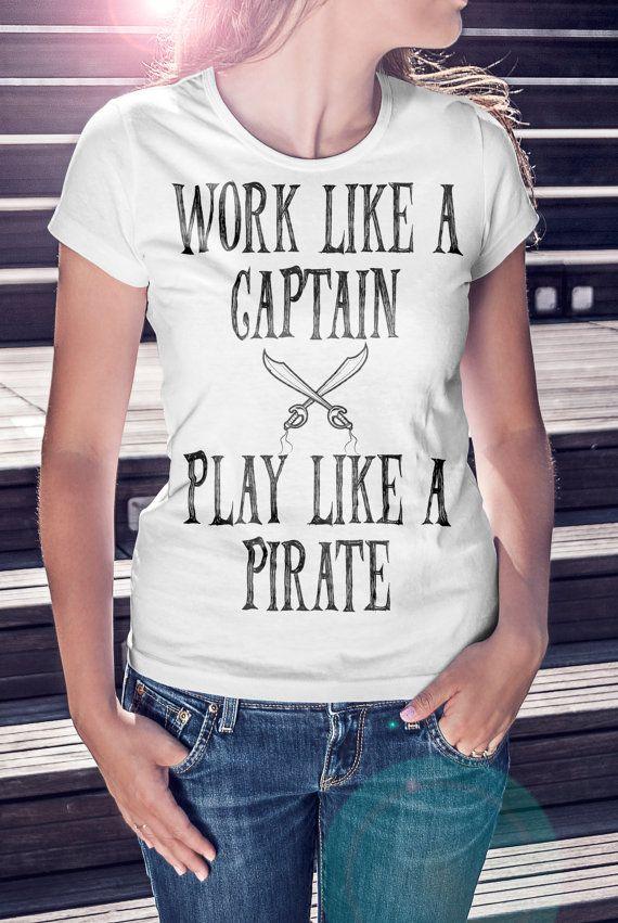 Pirate T-shirt Nautical T shirt Ocean t-shirt by SignalWhiskey
